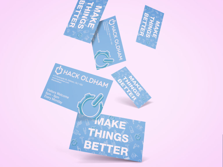 Hack Oldham Business Cards