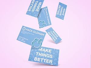 Logo Design – Hack Oldham Business Cards