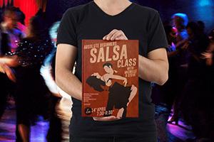 Graphic Design – Salsa Class Poster